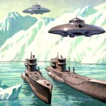 Nazi Uboats reaching Antarctica with accompanying UFOs