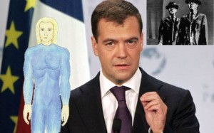 Prime Minister Medvedev reveals secrets about ETs among us