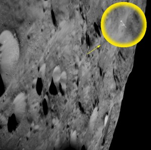 Location of object on far side of moon