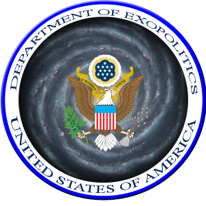 Mock up of a Department of Exopolitics Logo. Credit: Exopolitics.org