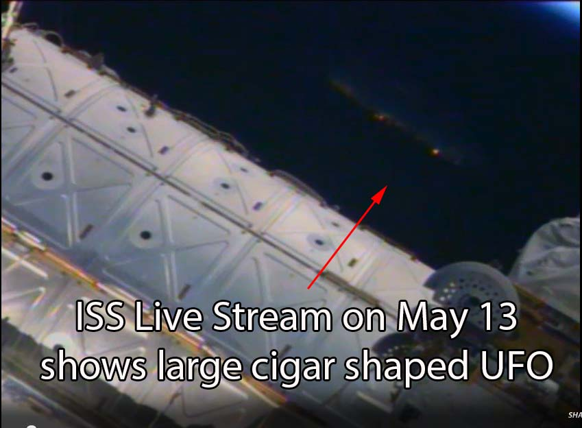 Is a giant cigar UFO hovering near the International Space ...