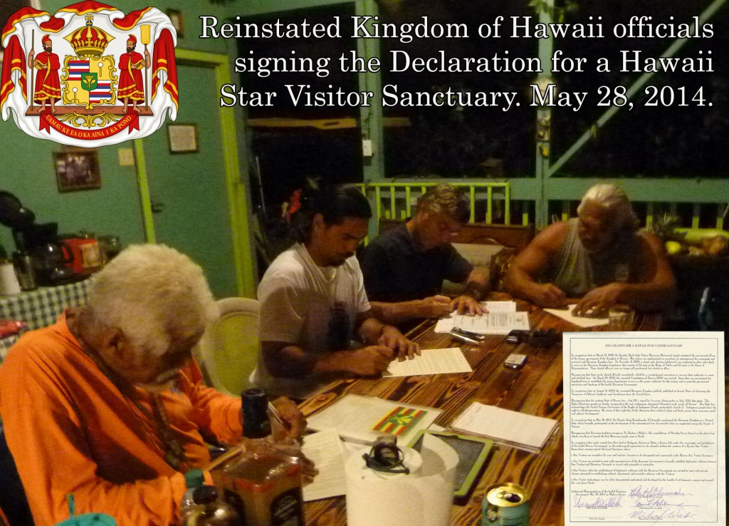 Official signing of Declaration for Star Visitors