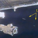 2 UFOs near ISS