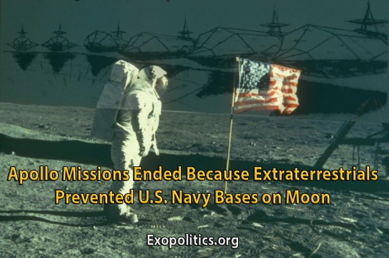 Apollo Missions Ended Because Extraterrestrials Prevented US Navy Bases on Moon