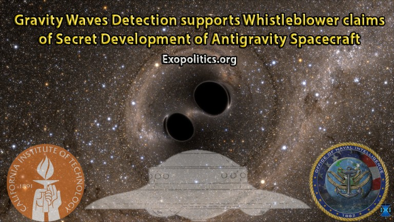 Gravity Waves Detection supports whistleblower claims of secret development of Antigravity Spacecraft