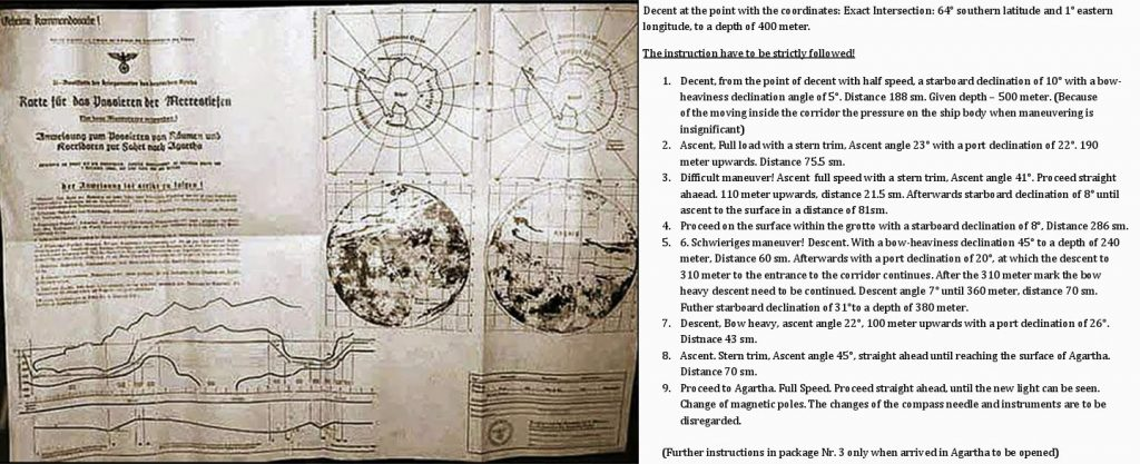 Directions to Antarctic bases - Source