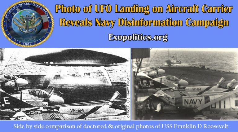 Photo of UFO Landing on Aircraft Carrier Reveals Navy Disinformation Campaign