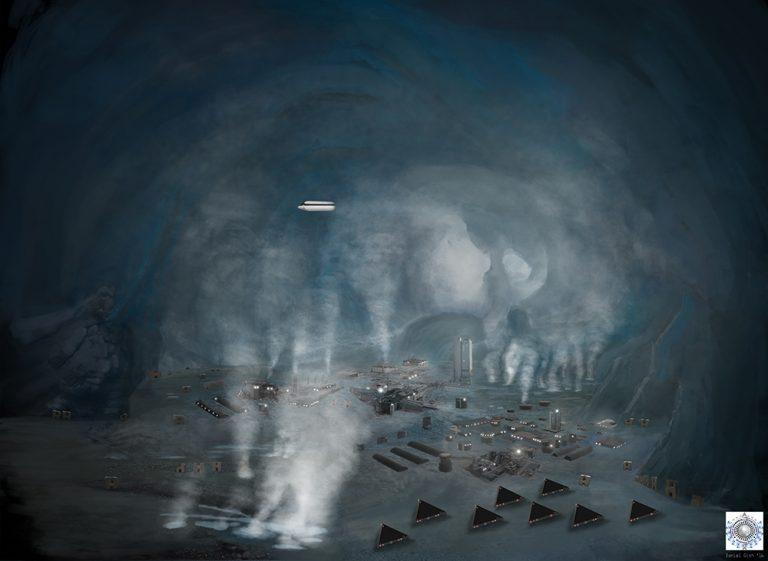 Майкл Салла - Война Тайных Космических Программ в небесах Антарктиды на фоне исхода глобальной элиты Antarctica-Under-the-Ice-Final-72px-768x561