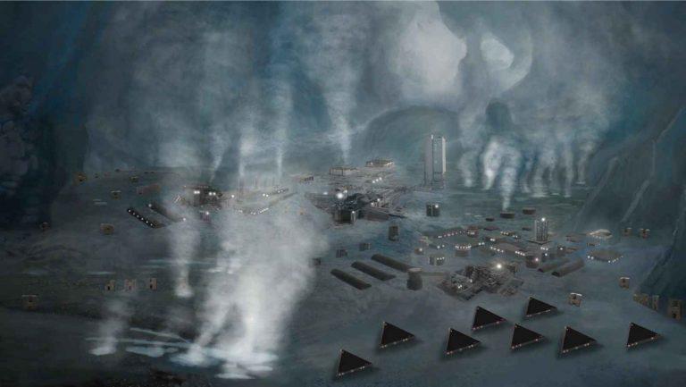 Майкл Салла: Визит в Антарктиду подтверждает открытие замороженной инопланетной цивилизации. 6_drawing_of_Antarctica_base-768x433