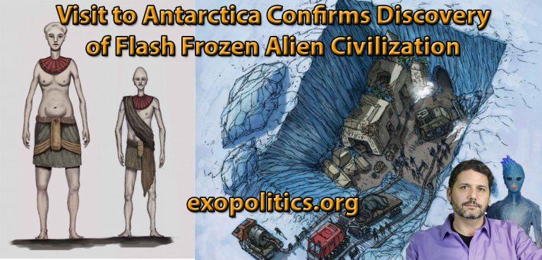Майкл Салла: Визит в Антарктиду подтверждает открытие замороженной инопланетной цивилизации. Antartica-Update-768x369