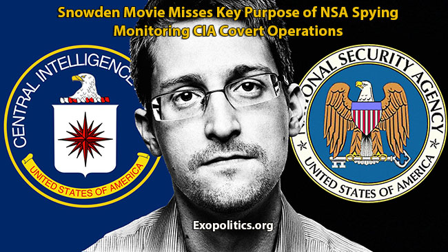 Snowden Movie Misses Key Purpose of NSA Spying – Monitoring CIA Covert Operations