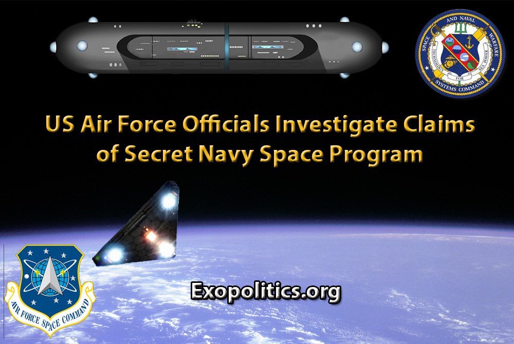 US Air Force Officials Investigate Claims of Secret Navy Space Program