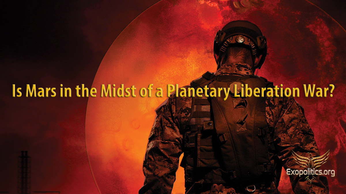 Is Mars in the midst of a Planetary Liberation War?
