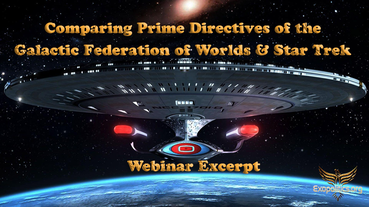 Comparing Prime Directives of the Galactic Federation of Worlds & Star Trek